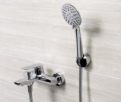 Lopau 3201 Смеситель для ванны с коротким изливом WasserKRAFT Серия Lopau 3200