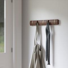 Вешалка настенная горизонтальная Flip 5 крючков коричневая Umbra 318850-1227