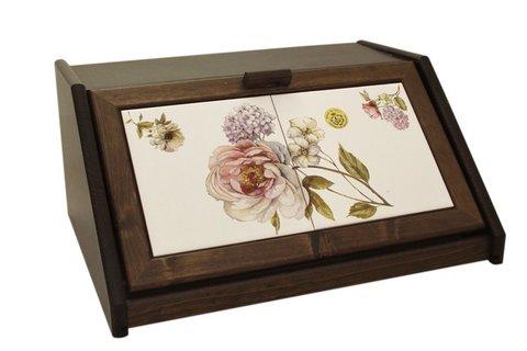 Деревянная хлебница с керамическими вставками Сады Флоренции 34715