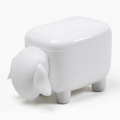 Контейнер для мелочей Sheepshape, белый с белой крышкой Qualy QL10259-WH-WH