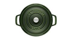 Кокот Staub круглый, 26 см, 5,2 л, зеленый базилик 1102685