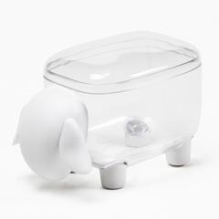 Контейнер для мелочей Sheepshape, белый с прозрачной крышкой Qualy QL10259-CL-WH