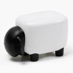 Контейнер для мелочей Sheepshape, белый с черной крышкой Qualy QL10259-WH-BK
