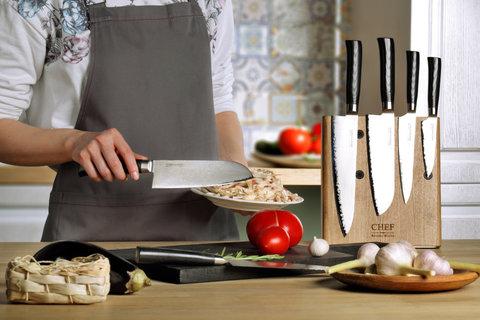 Магнитная подставка для 5 ножей Chef CH-003/NAT