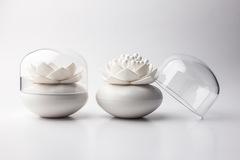 Контейнер для хранения ватных палочек Lotus белый Qualy QL10157-WH-WH