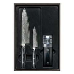Набор из 2 кухонных ножей YAXELL GOU и точилки арт. YA37000-003