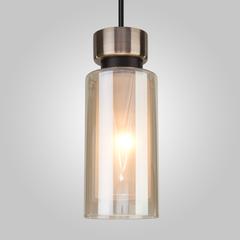 Подвесной светильник со стеклянным плафоном Eurosvet Amado 50115/1 черный