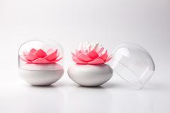 Контейнер для хранения ватных палочек Lotus белый-розовый Qualy QL10157-WH-PK