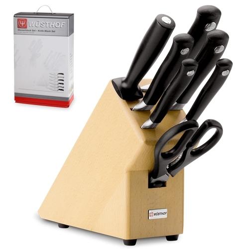 Набор из 5 кухонных ножей, кухонных ножниц, мусата  и подставки WUSTHOF Grand Prix арт. 9851
