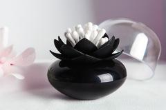 Контейнер для хранения ватных палочек Lotus черный Qualy QL10157-BK-BK