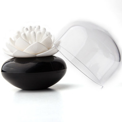 Контейнер для хранения ватных палочек Lotus черный-белый Qualy QL10157-BK-WH