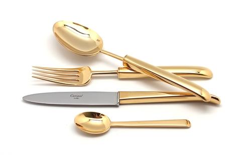 Набор столовых приборов (72 предмета / 12 персон) Cutipol CARRE GOLD 9131-72