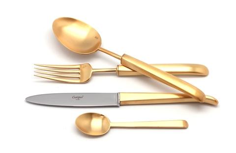 Набор столовых приборов (72 предмета / 12 персон) Cutipol CARRE GOLD 9132-72