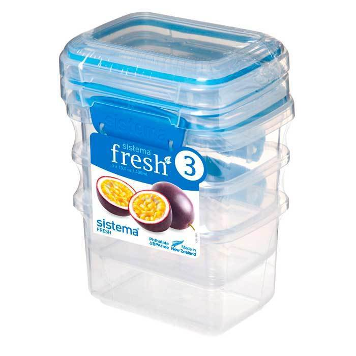 Набор контейнеров (3 шт.) 400 мл Sistema FRESH Packs 921543