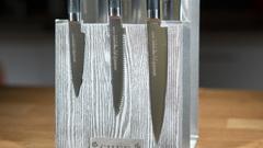 Комплект из 6 ножей Samura Mo-V и серой подставки