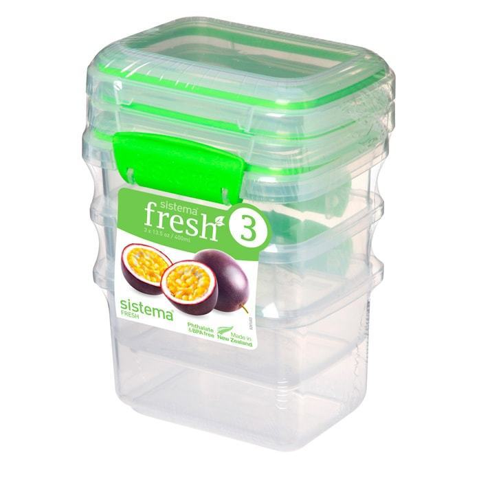 Набор контейнеров (3 шт.) 400 мл Sistema FRESH Packs 951543