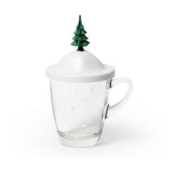 Чашка Winter Qualy QL10318-WH-GN