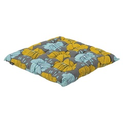 Подушка на стул из хлопка серого цвета с принтом Цветы из коллекции Prairie, 40х40 см Tkano TK20-CP0006