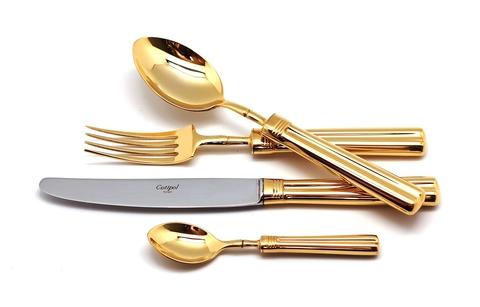 Набор столовых приборов (72 предмета / 12 персон) Cutipol FONTAINEBLEAU GOLD 9161-72