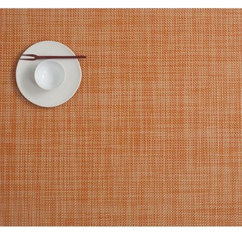 Салфетка подстановочная, жаккардовое плетение, винил, (36х48) Clementine (100132-004) CHILEWICH Mini Basketweave арт. 0025-MNBK-CLEM