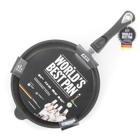 Комплект из 4 сковород AMT Frying Pans (высотой 4см) со съемной ручкой для индукции