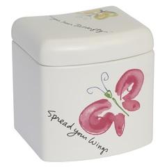 Косметическая емкость с крышкой Creative Bath Flutterby FLU25MULT