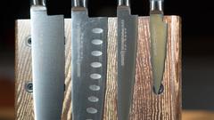 Комплект из 4 ножей Samura Mo-V и подставки
