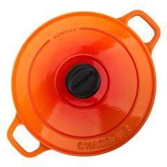 Кастрюля чугунная 24см, (3,8л) CHASSEUR Orange (цвет: оранжевый) арт. 372407