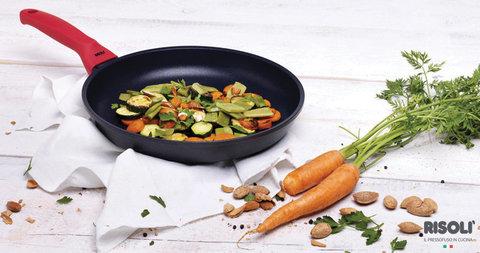 Литая сковорода 24см Risoli Soft Safety Cooking 01103GF/24TP