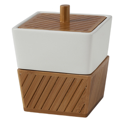 Косметическая емкость с крышкой Creative Bath Spa Bamboo SBM25BR