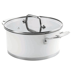 Кастрюля 24см (4,2 л) LACOR Cookware White арт. 43024