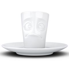 Кофейная чашка с блюдцем Tassen Buffled 80 мл белая T02.13.01