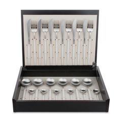 Набор столовых приборов (24 предмета / 6 персон) Cutipol GOA White Brushed арт. GO.006 W