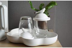 Чашка с крышкой Sparrow, белая Qualy QL10300-WH-WH