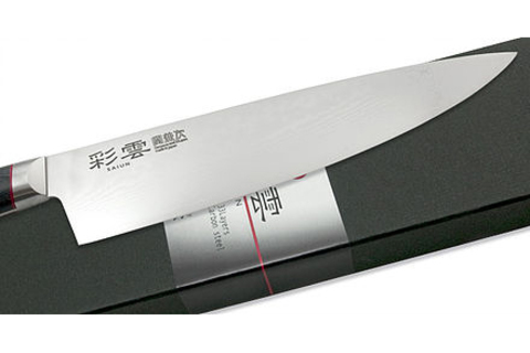 Нож кухонный Шеф 230мм Kanetsugu Saiun Damascus (9006)