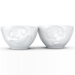 Набор из 2 чаш Tassen Happy & Oh please 200 мл белый T01.23.01