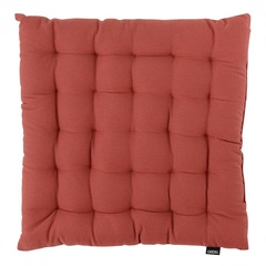 Подушка на стул из хлопка терракотового цвета из коллекции Prairie, 40х40 см Tkano TK20-CP0001