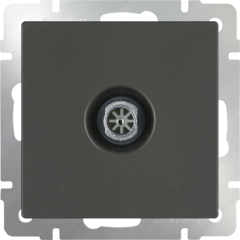 ТВ-розетка проходная  (серо-коричневый) WL07-TV-2W Werkel