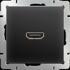 Розетка HDMI (черный матовый) WL08-60-11 Werkel