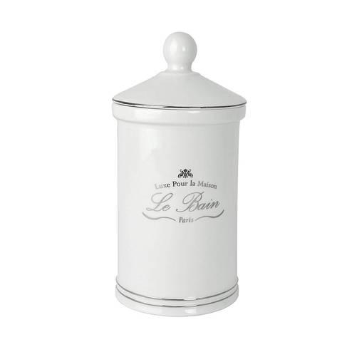 Косметическая емкость с крышкой Kassatex Le Bain White ALB-CJ-W