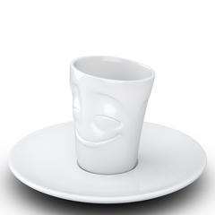 Кофейная чашка с блюдцем Tassen Cheery 80 мл белая T02.12.01