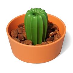 Миска для снеков Cacnuts, оранжевая с зеленым Qualy QL10284-OR-GN
