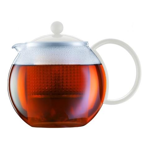Чайник заварочный с прессом Bodum Assam 1 л. белый