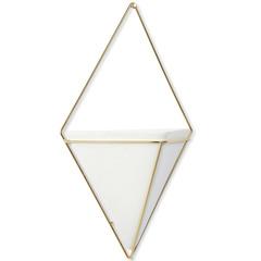 Декор для стен Trigg большой белый-латунь Umbra 470752-524