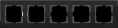 Рамка на 5 постов (черный алюминий) WL11-Frame-05 Werkel