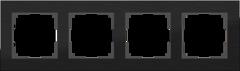 Рамка на 4 поста (черный алюминий) WL11-Frame-04 Werkel