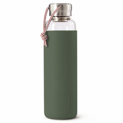 Бутылка для воды стеклянная 600 мл оливковая Black+Blum GR-WB-M010