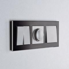 Рамка на 3 поста (черный алюминий) WL11-Frame-03 Werkel