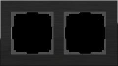 Рамка на 2 поста (черный алюминий) WL11-Frame-02 Werkel
