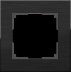 Рамка на 1 пост (черный алюминий) WL11-Frame-01 Werkel